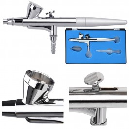 0.3mm Gravity Feed Dual-Action Airbrush Spray Gun